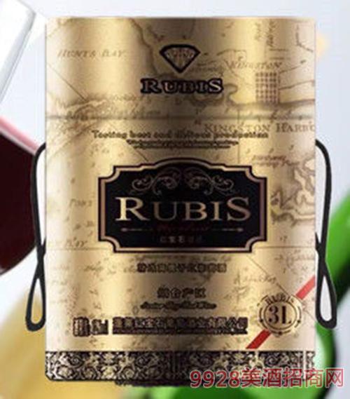 红宝石干红葡萄酒12.5度3L