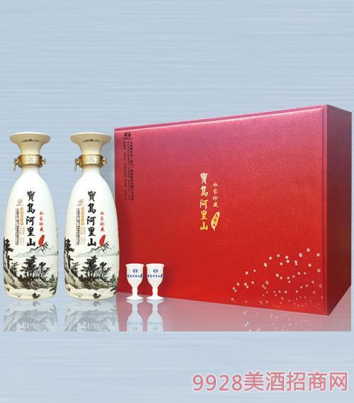 宝岛阿里山私家珍藏高粱酒52度500mlx2x4浓香型白酒