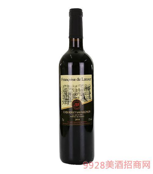 弗朗索瓦斯拉图干红葡萄酒13度750ml