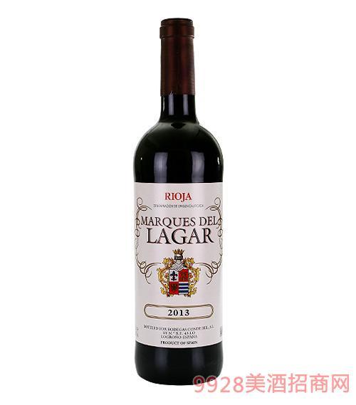 拉加尔公爵干红葡萄酒14度750ml
