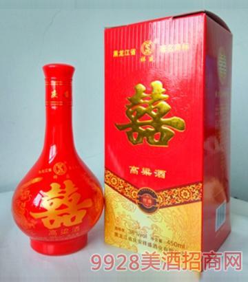 喜酒高粱酒38度450mlx6