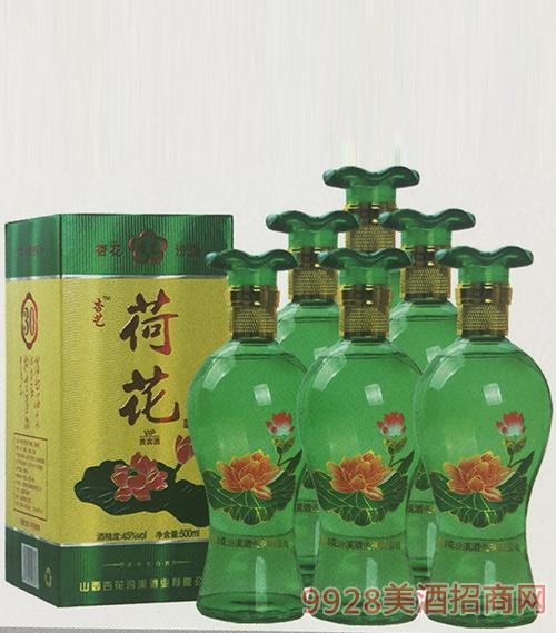45度杏花荷花酒500ml-x6