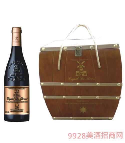 丘比特干红葡萄酒箱