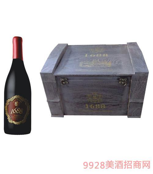 皇爵1688干红葡萄酒箱