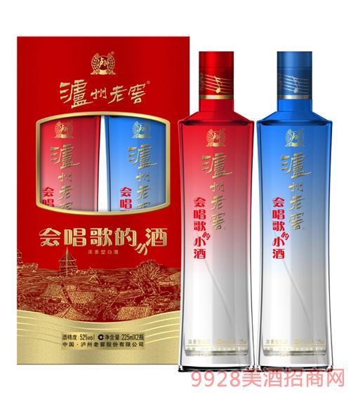 泸州老窖 会唱歌的小酒52度225mlx2