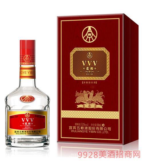 五粮液集团VVV柔和酒52度500ml