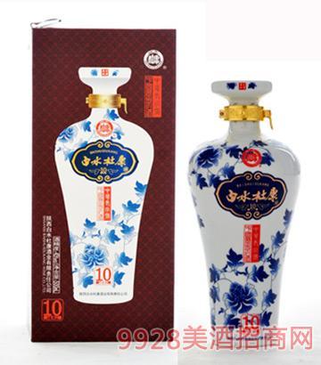 白水杜康花瓷10年45度500ml浓香型