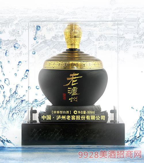老瀘州酒黑濃香型白酒999ml