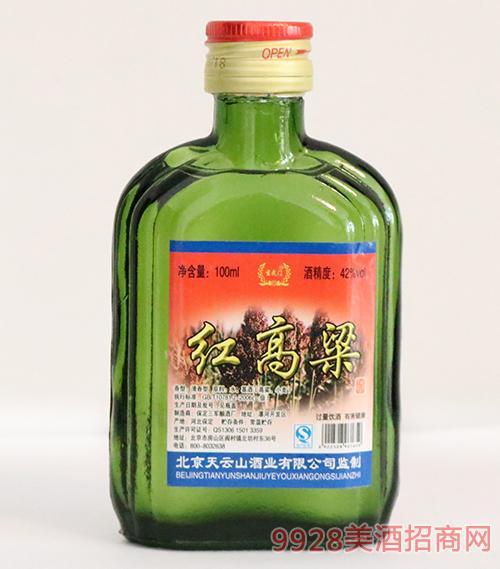 玄武门红高粱酒42度100ml