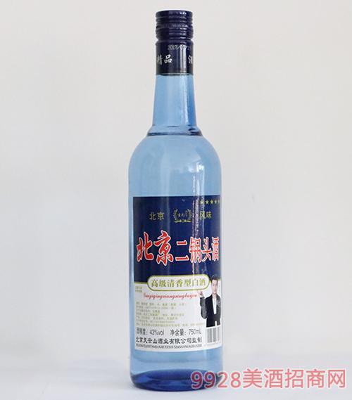 玄武�T北京二��^酒清香型43度750ml