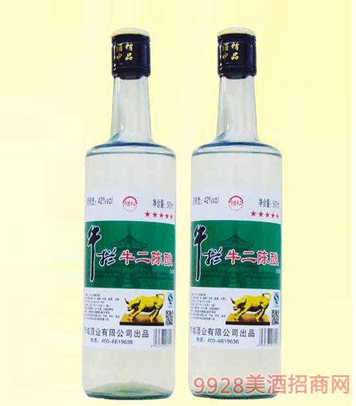 牛拦牛二陈酿酒42度500mlx12