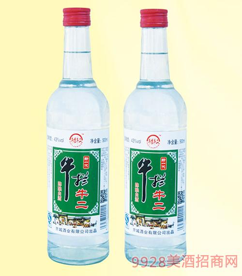 牛拦牛二陈酿酒42度500mlx12浓香型