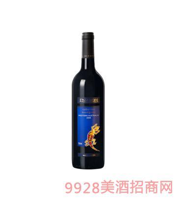 澳大利亚壁虎赤霞珠干红葡萄酒