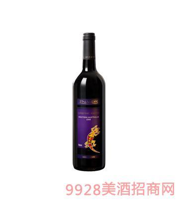澳大利亚壁虎赤霞珠美乐干红葡萄酒