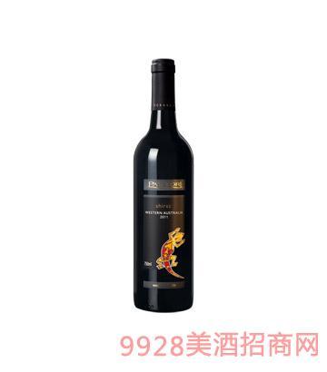 澳大利亚壁虎西拉干红葡萄酒