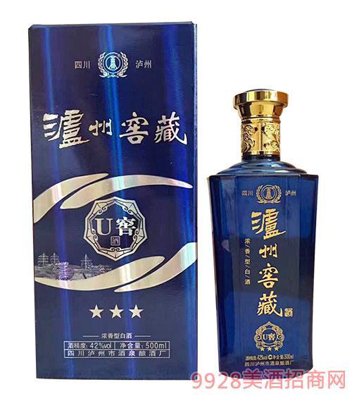 泸州窖藏U窖酒浓香型42度500ml
