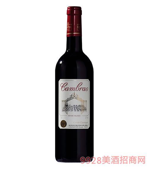 卡柏莱经典干红葡萄酒12度750ml
