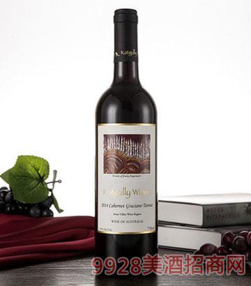 澳大利亚原瓶红酒2014澳嘉利赤霞珠丹拿红葡萄酒