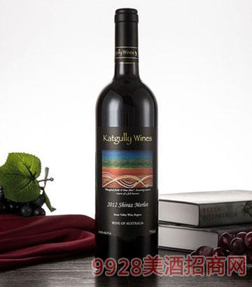 2012澳嘉利梅洛干红葡萄酒澳大利亚果香红酒