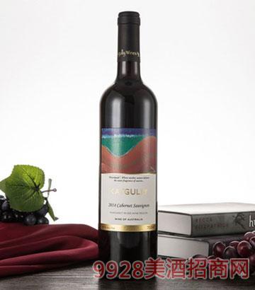 澳大利亚红酒原瓶2014澳嘉利赤霞珠干红葡萄酒750ML