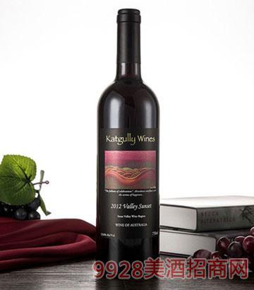 2012澳嘉利晚霞谷红葡萄酒澳大利亚干红葡萄酒13.6度红酒