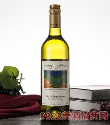 2011澳嘉利霞多丽干白葡萄酒750ML澳大利亚佐餐酒