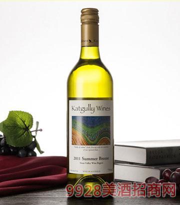 澳嘉利葡萄酒夏日微风干白佐餐酒澳大利亚原瓶