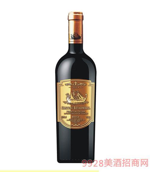 龙船上将·窖藏干红葡萄酒2014年
