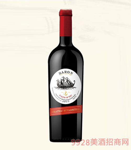 龙船上将·男爵干红葡萄酒2015年重瓶