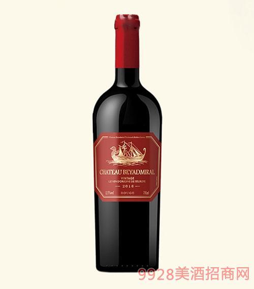 龙船上将·佳酿干红葡萄酒2016年重瓶