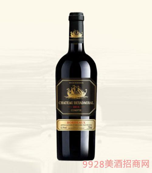 龙船上将·公爵干红葡萄酒2015年超重瓶