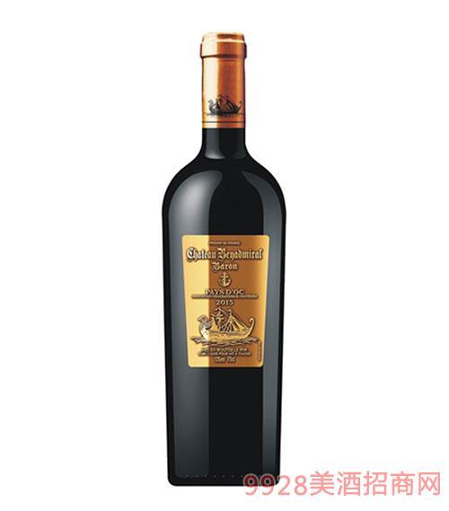 龙船上将·男爵干红葡萄酒2015年