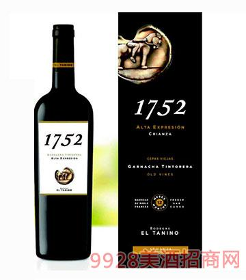 西班牙塔尼洛1752老藤佳酿干红葡萄酒14.5度750ml