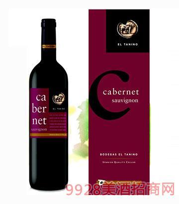 西班牙塔尼洛赤霞珠干红葡萄酒14度750ml