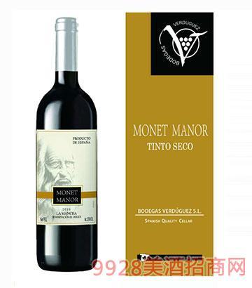 西班牙莫耐庄园单魄干红葡萄酒13度750ml