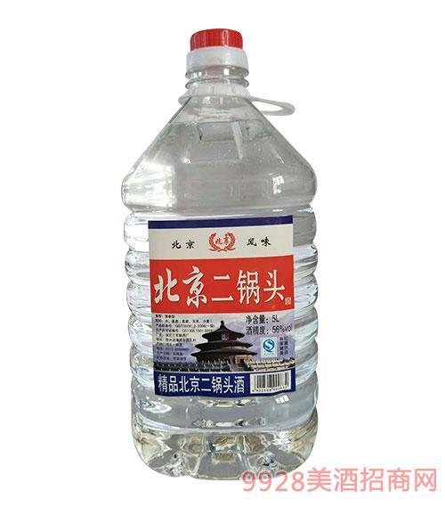 兆享北京二锅头酒清香型56度5L