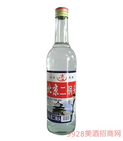 京乡酒北京二锅头56度500ml白瓶-方口