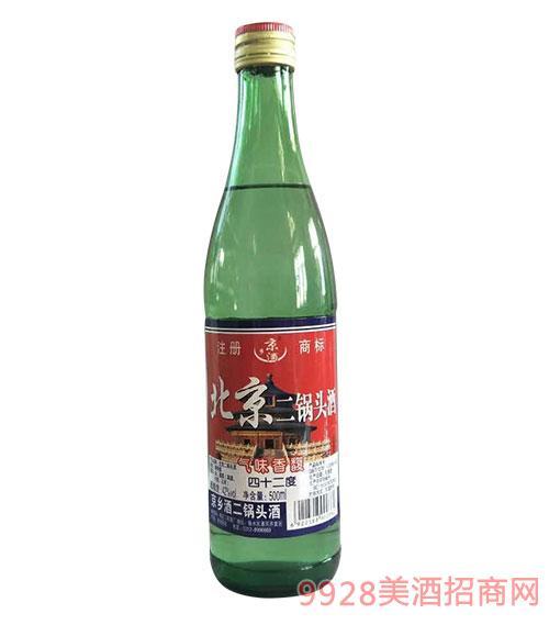 京乡酒北京二锅头42度500ml绿瓶