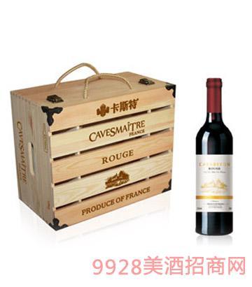 法国卡斯特班帝九世葡萄酒(大木箱)