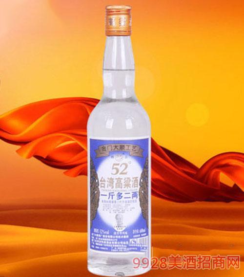台湾高粱酒52度600ml1x12