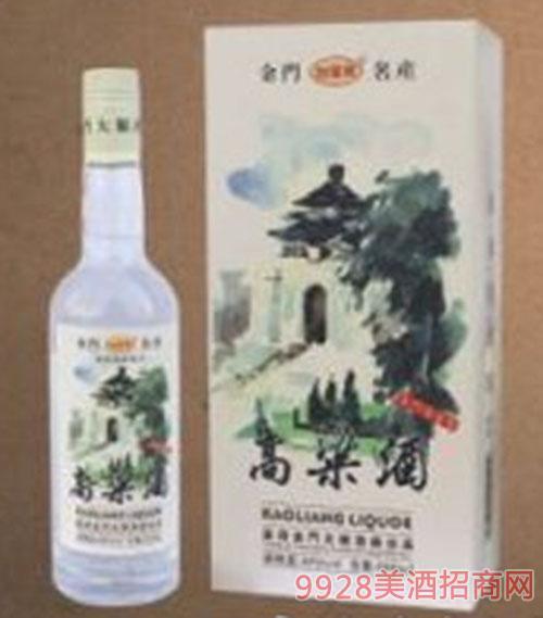 台湾金门高粱酒(白瓶)40度600ml清香x6