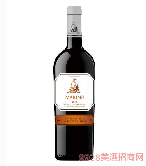 法国龙船·水师干红葡萄酒13度750ml