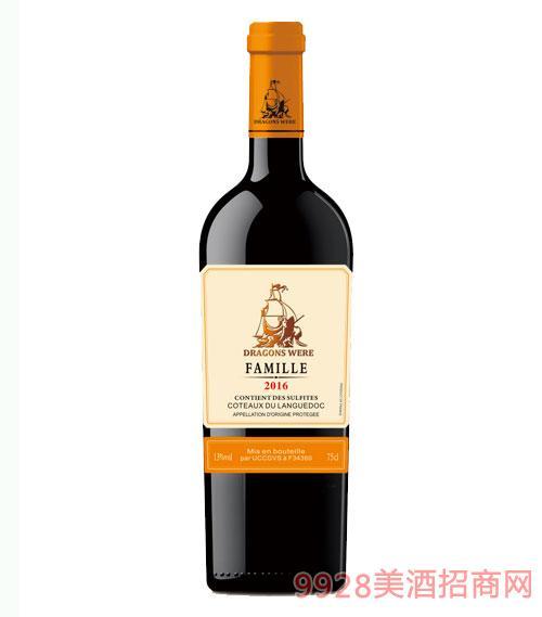 法国龙船·世家干红葡萄酒13度750ml
