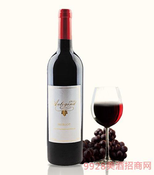 澳大利亚澳莱爵美乐干红葡萄酒13度750ml