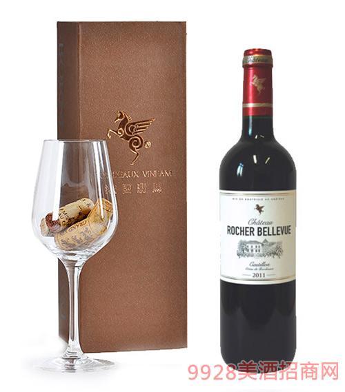 翡馬美丽石景酒庄红葡萄酒14度750ml
