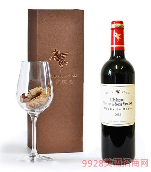 翡馬文森酒庄红葡萄酒13.5度750ml