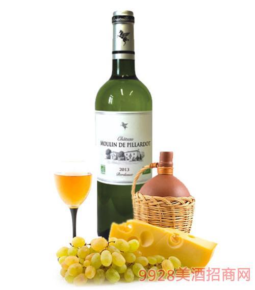 翡馬比亚朵酒庄有机白葡萄酒14度750ml