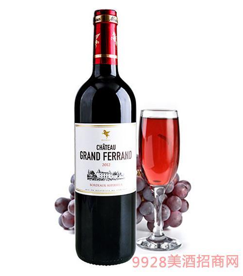 翡馬翡朗酒庄有机红葡萄酒14度750ml