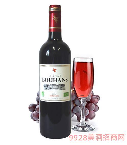 翡馬布朗酒庄有机红葡萄酒14度750ml