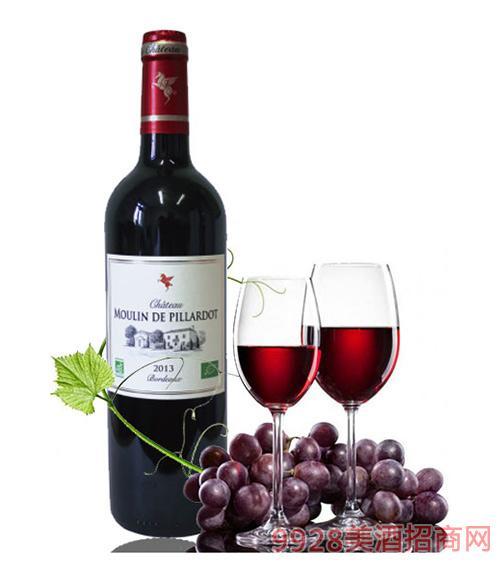 翡馬比亚朵酒庄有机红葡萄酒14度750ml